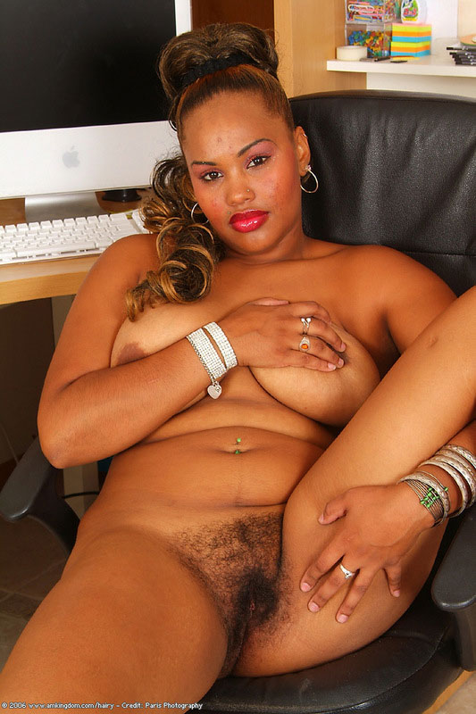 hairy Chubby pussy black