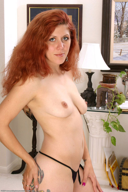 Hairy redheaded milf exposes her think
