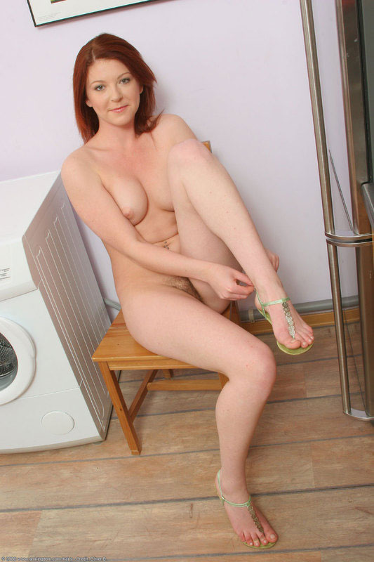 Curious redhead hairy pussy fingering seems