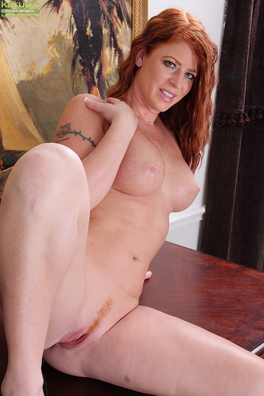 Hairy mystique opens her legs wide for a better view 4