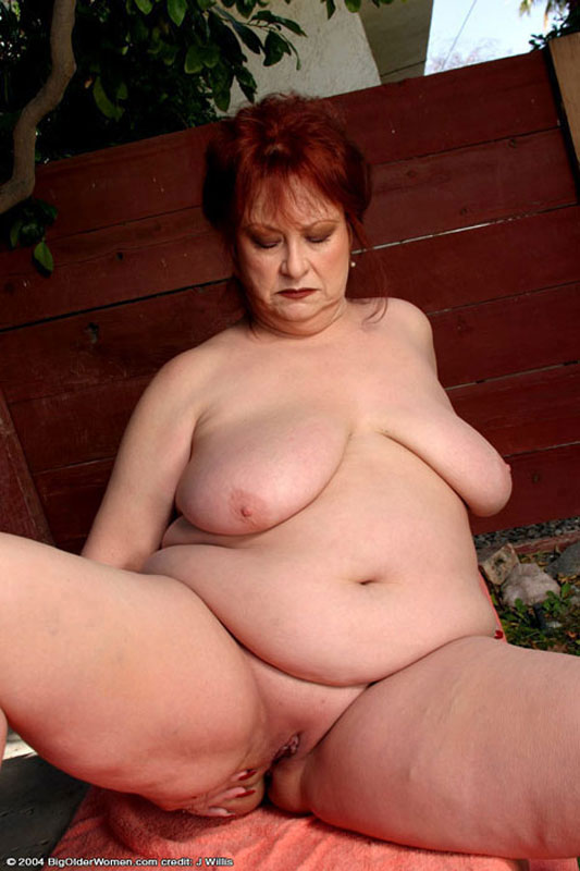 Chubby mature stripping