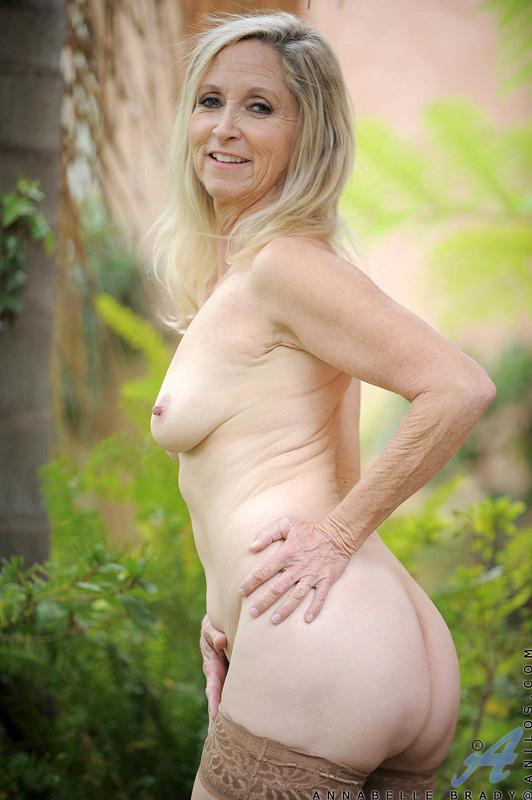 strips naked Granny