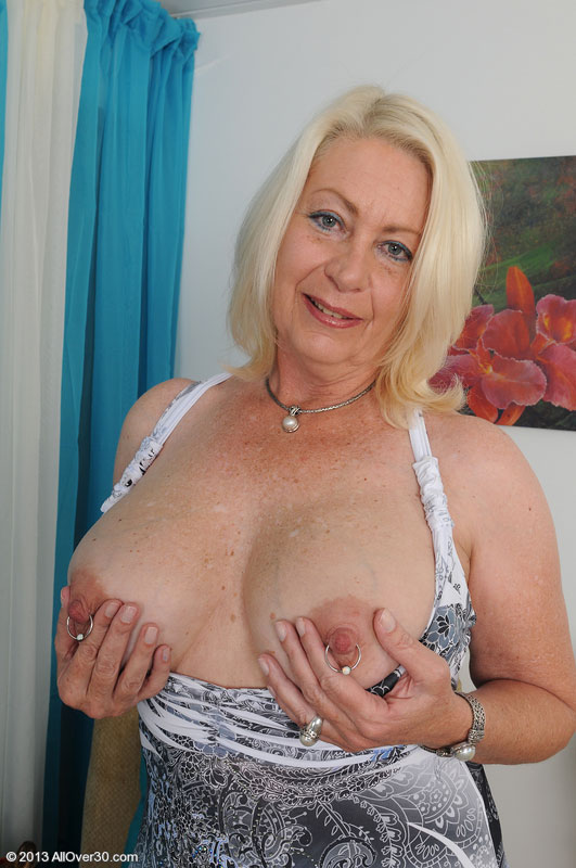 Skinny Mature Blonde Big Tits